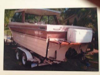 Used Thompson Boats For Sale in Michigan by owner   1984 24 foot Thompson Infisherrman