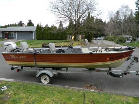 Used Crestliner Boats For Sale in Washington by owner | 2009 16 foot Crestliner Fishawk