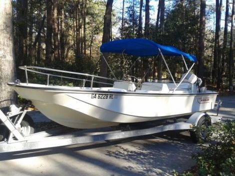 Used Boston Whaler Sport Evinrude Boats For Sale by owner | 1988 17 foot Boston Whaler Sport Evinrude