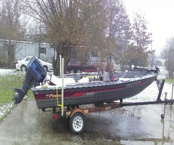 Used Fisher Boats For Sale by owner   1989 Fisher 17' v-Hull Fisher SV-3