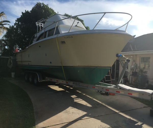 Used Fishing boats For Sale by owner | 1969 33 foot Concord Sport fisherman