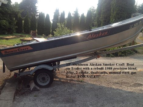 Used Smoker Craft Boats For Sale in Washington by owner   1988 smokercraft AOGPR15