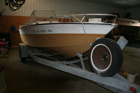 Used Mercruiser Boats For Sale by owner   1974 20 foot Mercruiser Americanio
