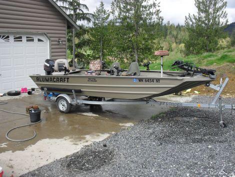 Used Alumacraft Boats For Sale in Washington by owner   2007 17 foot alumacraft modified v