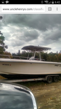 New Power boats For Sale in Maine by owner | 1990 pro line 250 sport