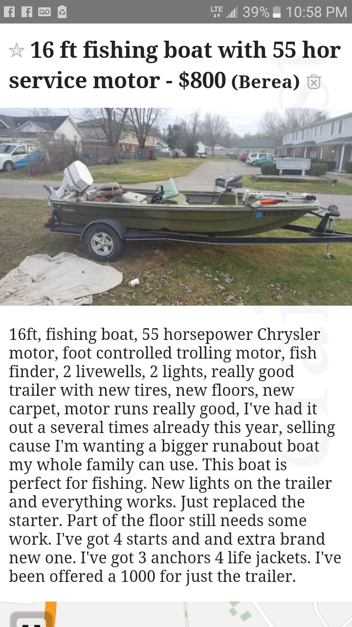 Used Power boats For Sale by owner   1975 16 foot Astroglass Astroglass