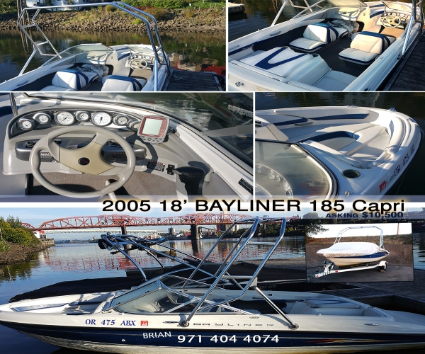 Used Power boats For Sale in Oregon by owner | 2005 Bayliner 185 Capri