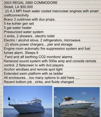 Used Regal 28 Boats For Sale by owner | 2004 RegaL 2860
