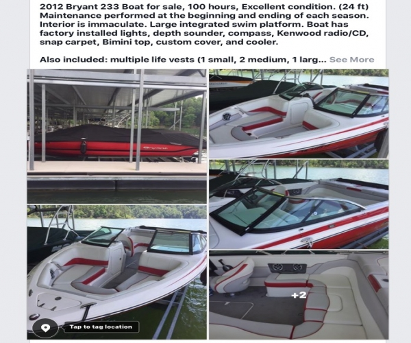 Used Bryant Boats For Sale by owner   2012 Bryant 233